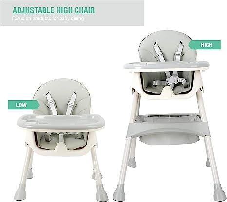 Babyyuga 3in1 High Chair Protable Baby Highchair Infant Child Feeding Seat Blue