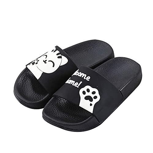 a634e63595aa SITAILE Girls Boys Slides Sandals Slip on Cute Slippers Outdoor Indoor Kids  Flip Flops Black