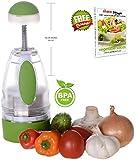 Onion Chopper Vegetable Garlic Slap Chop Slicer Cutter Dicer, GIFT Recipe eBook - by Ohana Magic