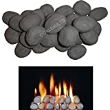 ! 10 Gas fire Ceramic Pebbles Replacements/Bio Fuels/Ceramic (GREY) IN COALS 4 YOU PACKING by COALS 4 YOU