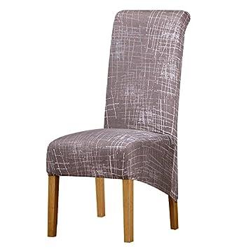 PPOOLLKKMM Grande Taille Longue Retour Chaise Couverture Roi Haut Dossier Spandex Tissu Couvre Hotel Banquet