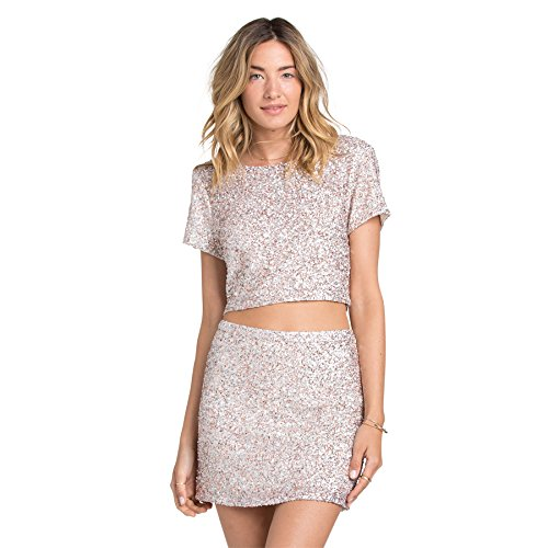 Billabong Womens Showin Off Skirt Large Rose Gold Multi by Billabong