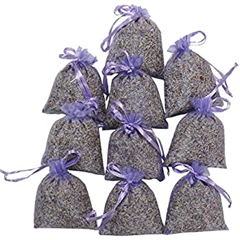 RakrisaSupplies Purple Lavender Sachet Bags Pack of 15 | Natural Deodorizer, Moth Repellent, & Highest Fragrance Lavender Scent Sachets | LS-001