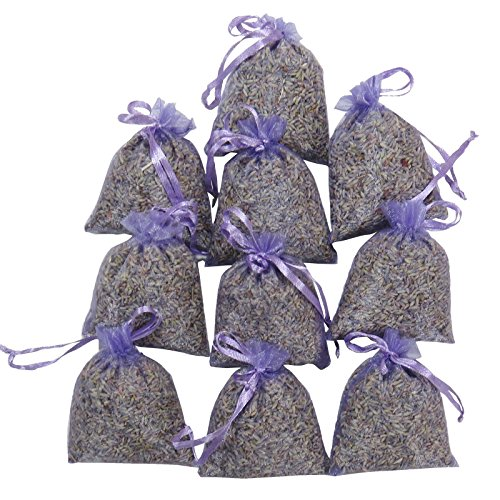 RakrisaSupplies Purple Bags Pack of 15 | Natural Deodorizer and Highest Fragrance Lavender Scent Sachets | LS-001 ()