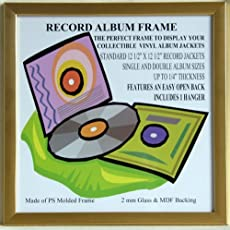 gold lp frame glass front