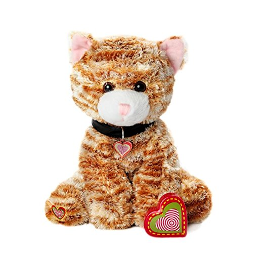 Hounds Orange (My Baby's Heartbeat Bear - Furbaby's Adorable Stuffed Animal with 20 Second Voice Recordable Heart - Orange Kitty)