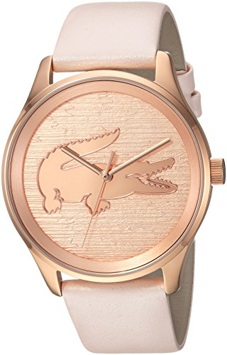 Lacoste Women's 'Victoria' Quartz Stainless Steel and Leather Casual Watch, Color Pink (Model: 2000997)