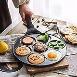 Vinchef Silver Dollar Pancake Pan Nonstick, 7-Mold