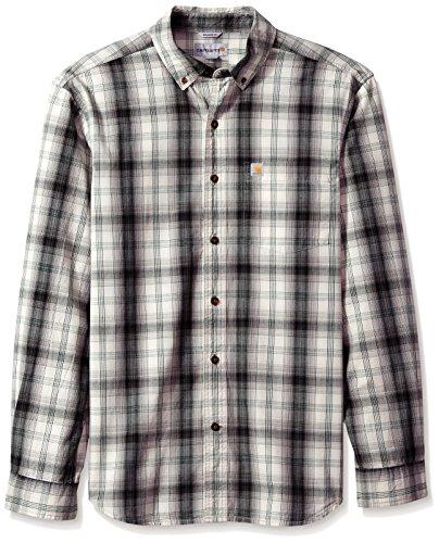 Carhartt Mens Essential Plaid Button-Down Long Sleeve Shirt
