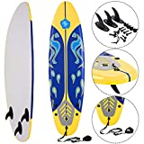 Giantex Surfboard Surfing Surf Beach Ocean Body Foamie Board with Removable...
