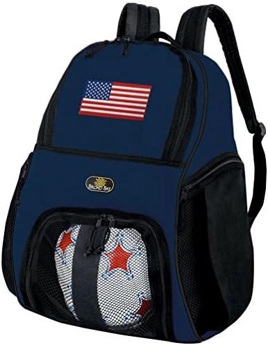 American FlagサッカーバックパックまたはUS Flagバレーボールボールバックパック