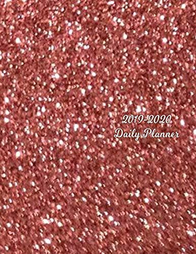 - 2019 - 2020 Daily Planner: Rose Gold Glitter Pattern Design Effect Cover   Full Year Agenda   January 2019 - December 2019   Daily Plan Days Set Goals   Datebook Calendar Schedule