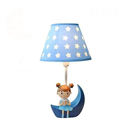 Cálida y Adorable niña lámpara de Mesa Romántica habitación Infantil Creativa Princesa de Dibujos Animados lámpara de Escritorio LED Regulable Luces ...