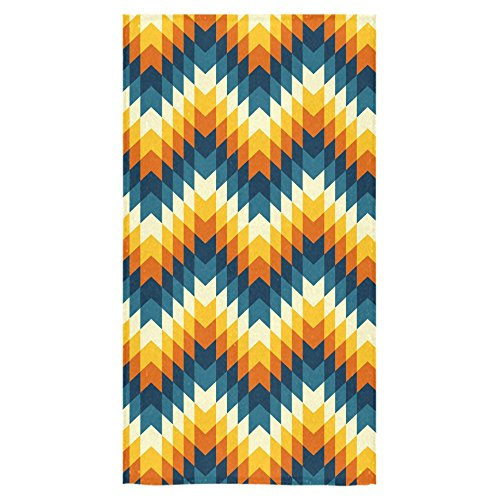 ADEDIY Fashion Custom Towel Aztec Pattern Leaves Bath Towel