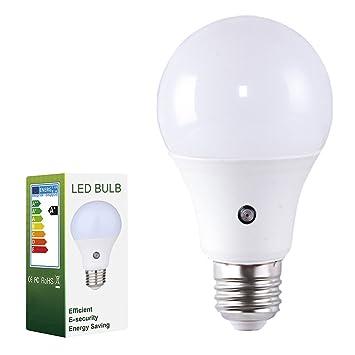 Pack de 1 Edison Bombillas E27 7W Iluminación 14 x 2835 SMD LEDs Lampara con Sensor