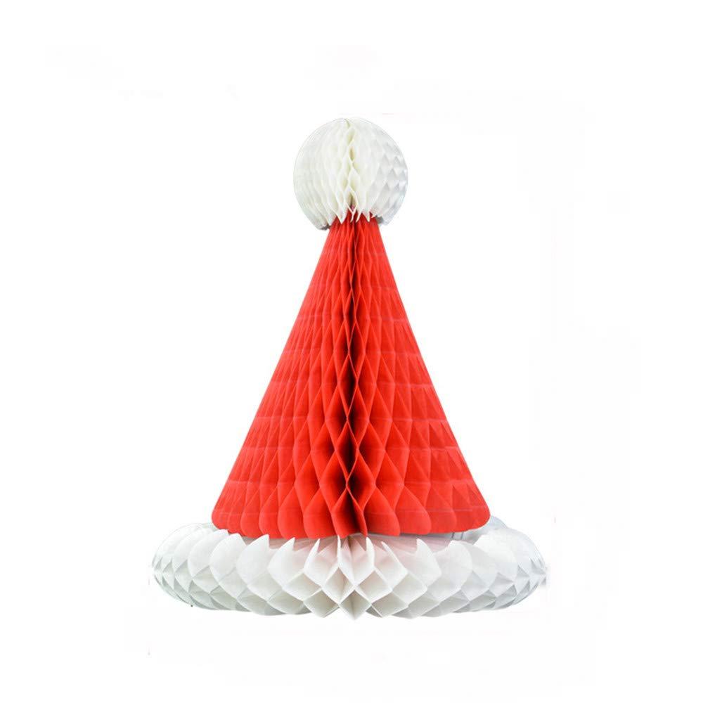 TAOtTAO Vintage Beistle Santa Mini Honeycomb Christmas Table or Package Decoration