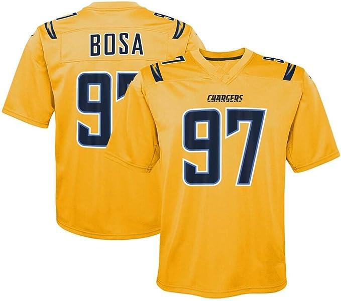 Herren T-Shirt American Football Uniform Los Angeles Chargers BOSA #97 Football Trikots Gruby Tee Shirts