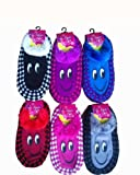 Ddi J-Ann Ladies Knitted Home Slipper-Smily Face/ Checkerd, 9-11 (pack Of 24)