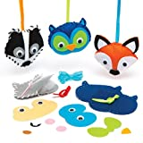 Woodland Animal Decoration Sewing Kits Creative Set for Children to Make Decorate and Display as Fall Crafts (Pack of 4)