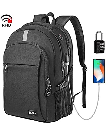 158e2d8b4 Raydem 17.3 Inch Travel Laptop Backpack with USB Charging Port, TSA  Friendly, Water Resistant