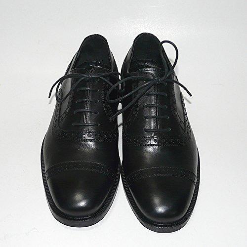 Worland Mod.1600/2 große Zahlen 100% Made in Italy - Herren Schuhe anziehen Leder (52, Schwarz)