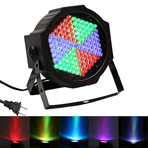 Party Lights, SOLMORE 127 LED Strobe Light DMX-512 RGB Disco Stage Lights Projector Par Light for Stage DJ Lighting Wedding KTV Show Club Bar Decoration 25W