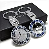 J.MOSUYA 2Pack 3D Mercedes Benz Keychain Accessories Car Key Chain Zinc Alloy