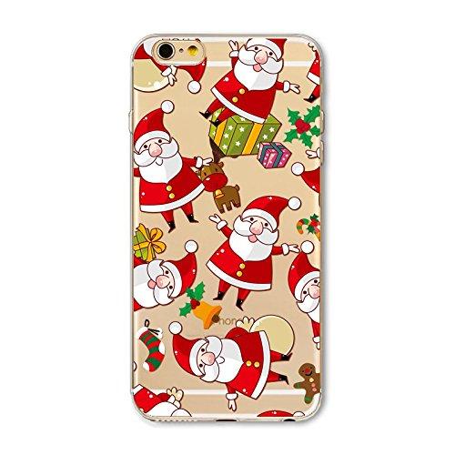 Christmas Greeting iPhone 7 / iPhone 8 Navidad Serie Funda,TOTOOSE Ultra Slim Fit prueba de golpes Soft TPU Phone Back Case Cover Protector Para iPhone 7 / iPhone 8 -Colorido árbol de navidad Santa Claus 2