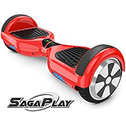 SagaPlay F1 Self Balance Board Motorized 2 Wheel Self Balancing Scooter [CSA/UL2272 Certified] All-Terrain Tires Personal Hover Transporter for Kids and Young Adults [Model: F1, Red, Series N20]