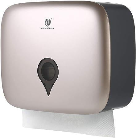 Decdeal CHUANGDIAN Dispenser per Asciugamani a C con Piegatura a Parete Supporto per Dispenser di Carta Igienica Impermeabile per Servizi di Ristorazione in Hotel