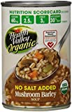 Health Valley Organic No Salt Added Soup, Mushroom Barley, 15 Ounce (Pack of 12)