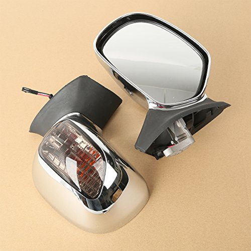 XMT-MOTO Left & Right Rear View Mirror w/Turn Signals For Honda Goldwing GL1800 2001 2002 2003 2004 2005 2006 2007 2008 2009 2010 2011