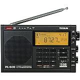 TECSUN PL-600 Digital Tuning Full-Band FM Radio Stereo MW/SW-SBB/PLL Synthesized Stereo Radio Receiver PL600 Radio (600EU-Black)