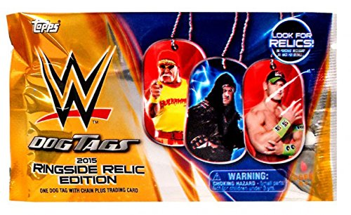 WWE Wrestling 2015 Ringside Relic Edition 2015 Ringside Relics Dog Tags Pack ()
