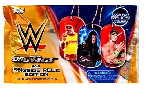 WWE Wrestling 2015 Ringside Relic Edition 2015 Ringside Relics Dog Tags Pack