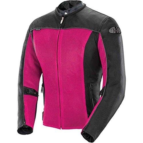 Joe Rocket Velocity Women's Mesh Street Motorcycle Jacket - Pink/Black / X-Small -