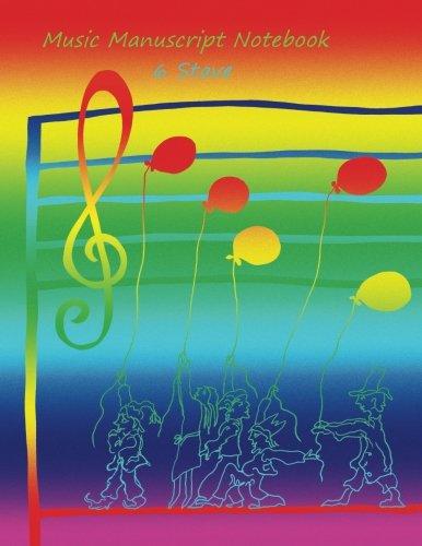 Music Manuscript Notebook: 6 Stave