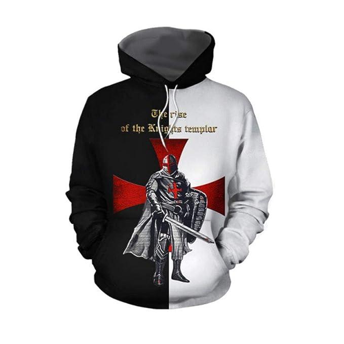 Sudaderas Hombre Knights Templar Sudaderas con Capucha Medieval ...
