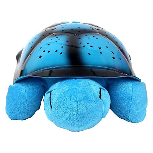 (Night Light for Kids Nightlight Projector for Children Turtle Night Lights Musical Sky Turtle Shape by BUNDERA (Blue-Pink-Army)