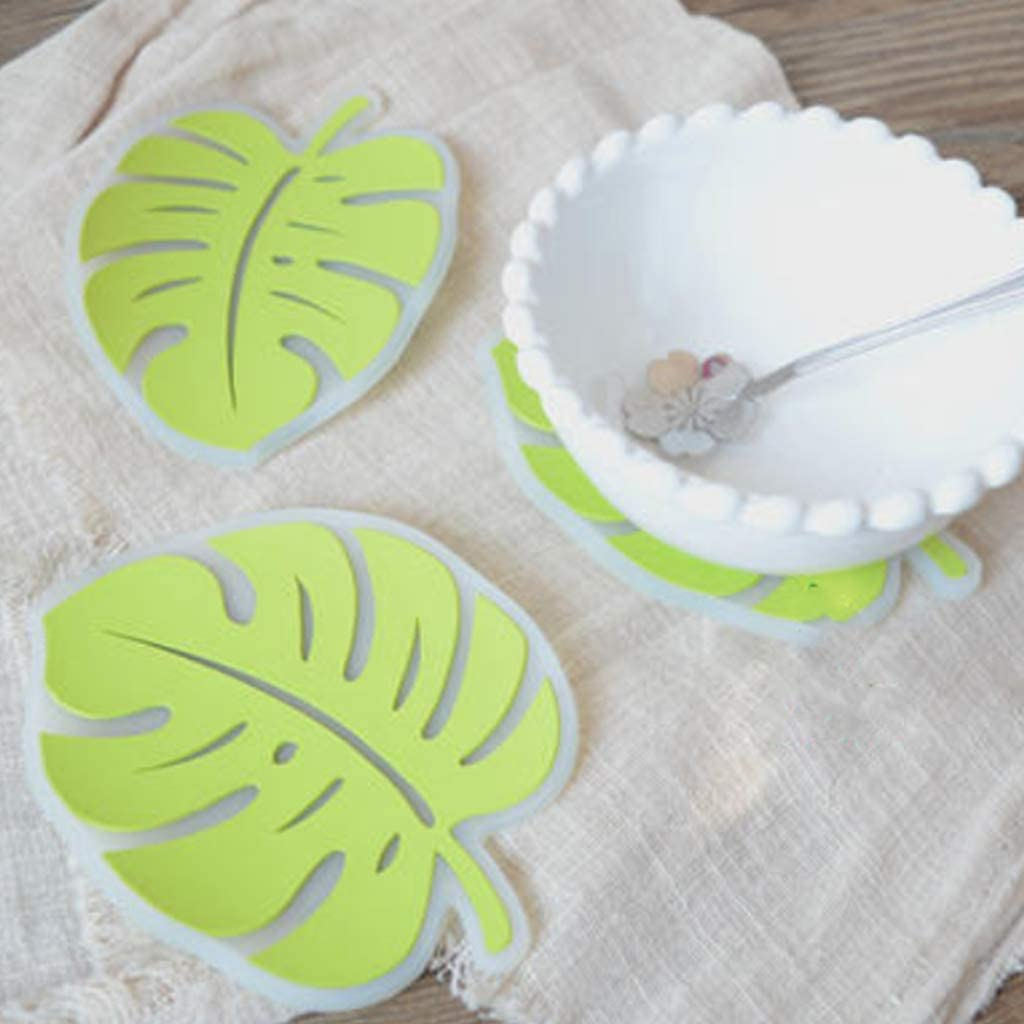 Tvvudwxx Leaf Cup Mat Resin Epoxy Silicone Moulds for Coaster Candle Mat Bowl Mat Making UV Resin Molds