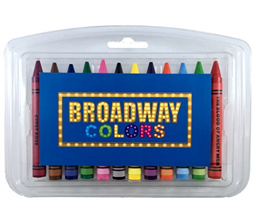 Broadway Colors Crayon Set - 12 Broadway Show Themed Colors In A Clear Case (Clear Crayon)