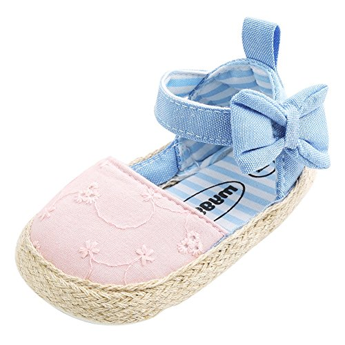 Weixinbuy Infant Baby Girls Soft Soled Summer Sandals Bowknot Princess Shoes