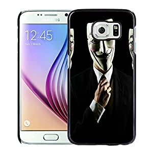 Anonymous Guys Black Cool Abstract Picture Case For Samsung Galaxy S6 Phone Case