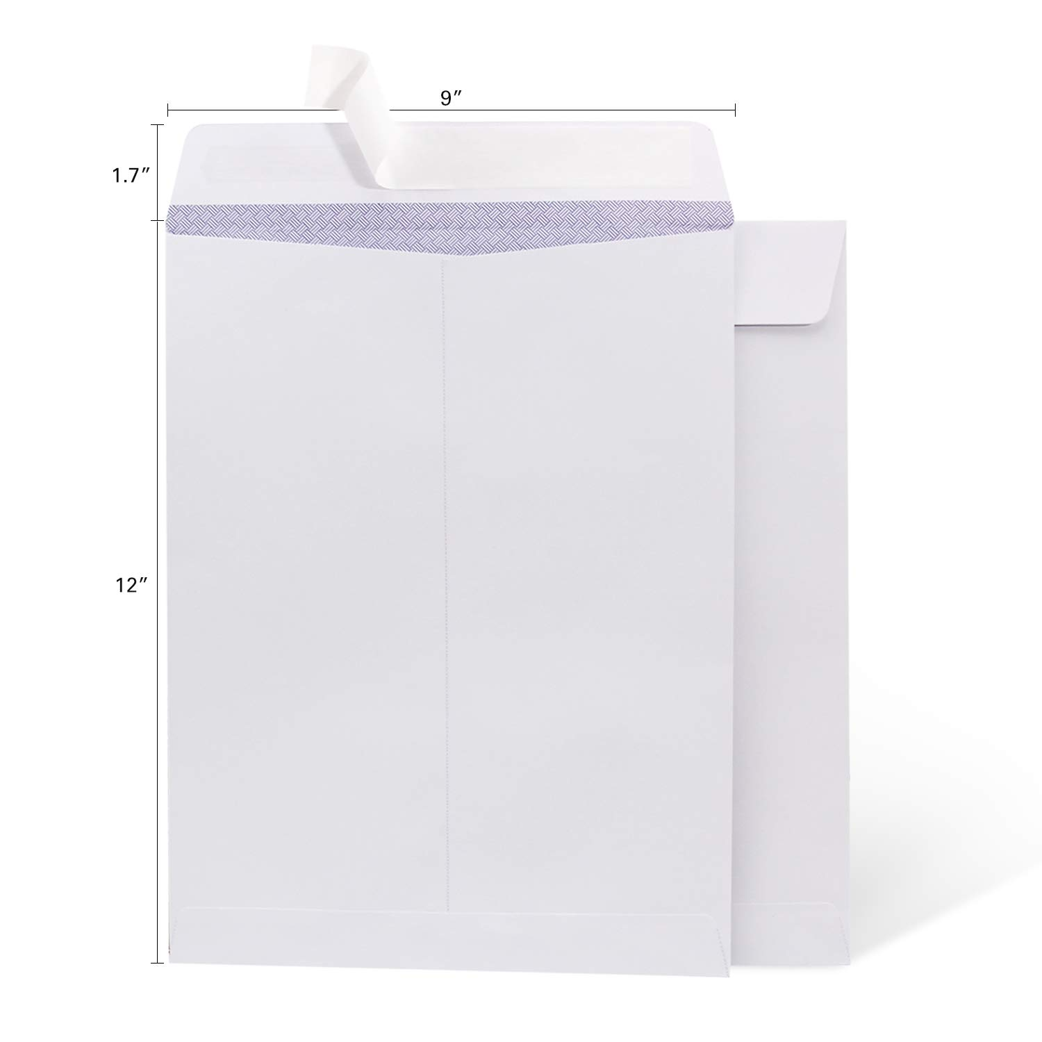 100 9 x 12 Self Seal Security White Catalog Envelopes Ohuhu, for Business Documents, Secure Mailing, Photos, Ultra Strong Quick-Seal, 100 Envelope with Letter Opener, 28 lb by Ohuhu (Image #5)