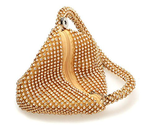 Sparkles Women Dress Clutch Rhinestone Bags Handbag WBAG Party Beaded Wedding Black Evening BqzOnwa