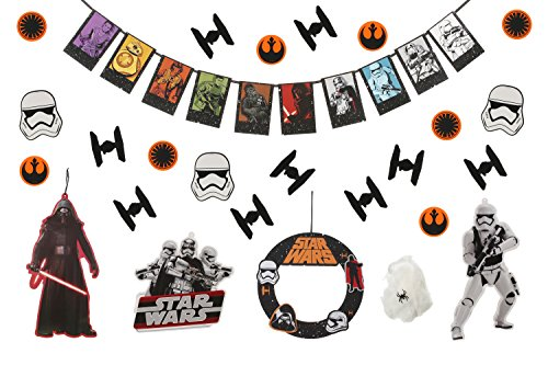 Star Wars The Force Awakens Deluxe Party Decorating Kit (Star Wars Party Decorations)
