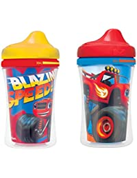 Gerber Graduates Nickelodeon Blaze & The Monster Machines Insulated Hard Spout Sippy Cup, 2-Pack