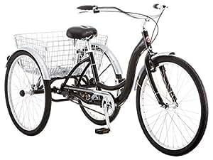 "Schwinn Meridian Wheel Trike Bicycle, Black, 14""/One Size"