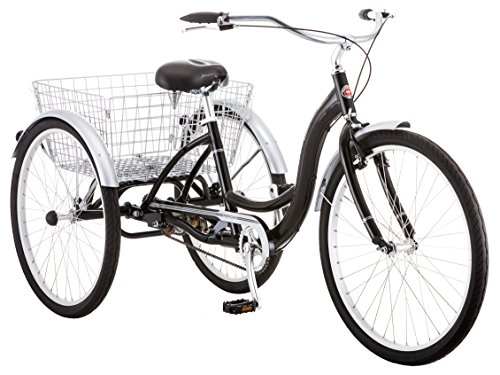 5 Speed Rear Engine - Schwinn Meridian Adult Tricycle, 26-Inch Wheels, Black