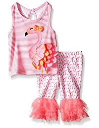 Mud Pie Baby Girls' Flamingo 2-Piece Set